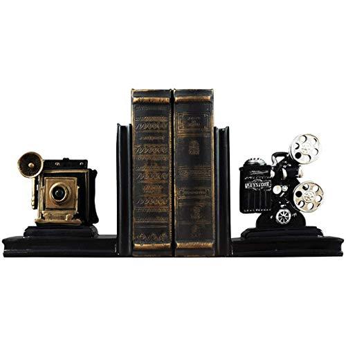 XCJJ Personalidad proyector de cine sujetalibros escritorio estudio libro soporte clip decoración del hogar adornos 20.5x12x16 cm estantería