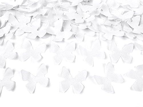 jakopabra Konfetti-Kanone mit weißen Schmetterlingen (60 cm)