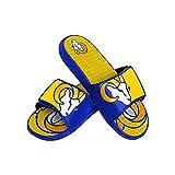 Los Angeles Rams NFL Mens Colorblock Big Logo Gel Slide - M
