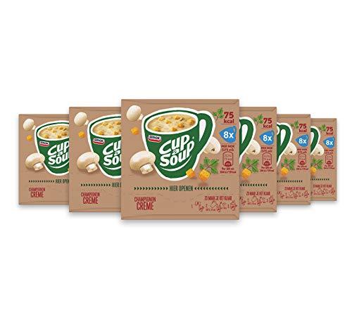 Unox Cup-A-Soup Champignon Crème, lekker als tussendoortje – 6 x 8 zakjes