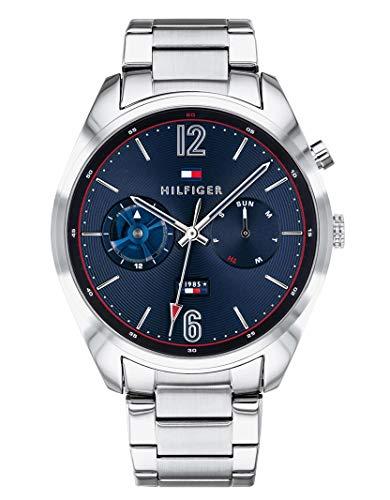 Tommy Hilfiger Reloj Multiesfera para Hombre de Cuarzo con Correa en Acero Inoxidable 1791551
