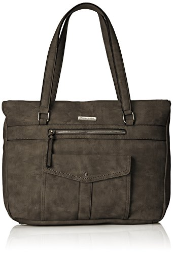 Tamaris Damen Adriana Shopping Bag 2651181 Henkeltasche, Schwarz (Black 001)