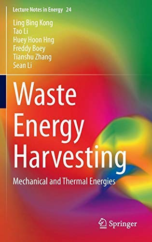 Preisvergleich Produktbild Waste Energy Harvesting. Mechanical and Thermal Energies.