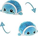KUNSTIFY Doudou tortue - Pour fille - Pour exprimer de l'humeur - Cadeau pour petite amie - Tortue bleue