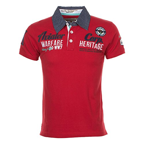 Harry Kayn-Polo Manches Courtes Homme Craft- Rouge-XXL