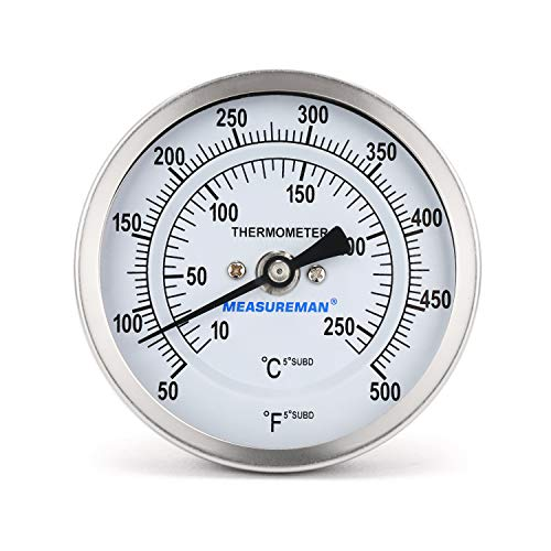 Measureman Fully Stainless Steel Bimetal Dial Thermometer, 3