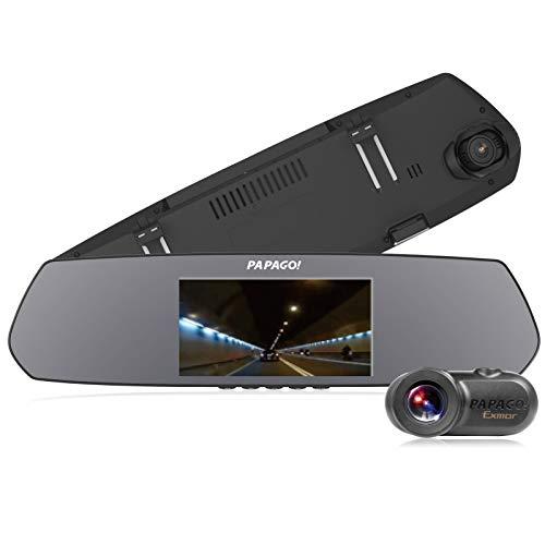 ドライブレコーダー PAPAGO GoSafe M790S1 あおり運転対策前後フルHD高画質で記録フレームレスルームミラー...