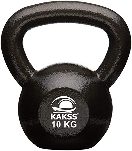 Kakss Solid Cast Iron Kettlebell Weights (Weight 10 Kg) (Proudly Made in India)
