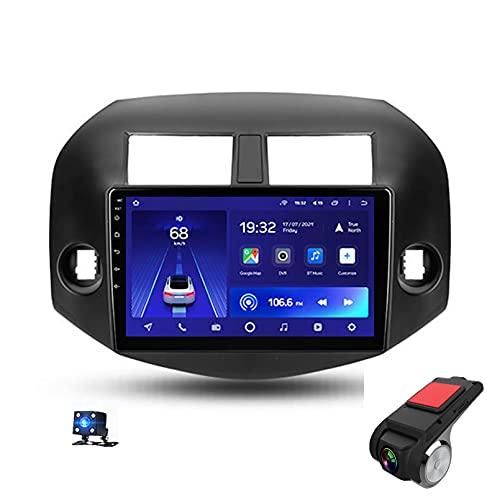 9'Android 10 Navegación GPS Car Stereo DIN Radio Reproductor De Video Multimedia para Toyota RAV4 3 XA30 2007-2012 Soporte Bluetooth Control del Volante USB WiFi FHD D(Size: 4 Core,Color:WiFi 4G+64G)