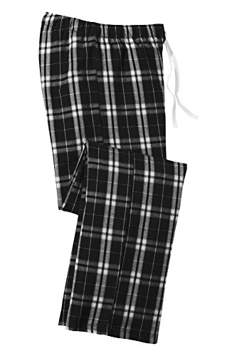 Joe's USA(tm - Ladies Soft & Cozy Plaid Flannel Pajama Pants in Sizes: XS-4XL Black