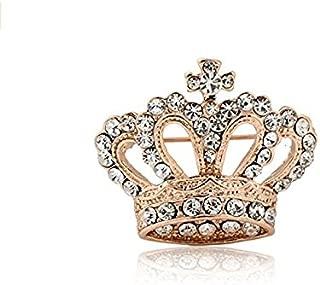 Huyizhi Strass Brosche Pin Zubehör, Crown Form Brosche Tuch Dekoration, für Party Urlaub Hochzeit, Goldren