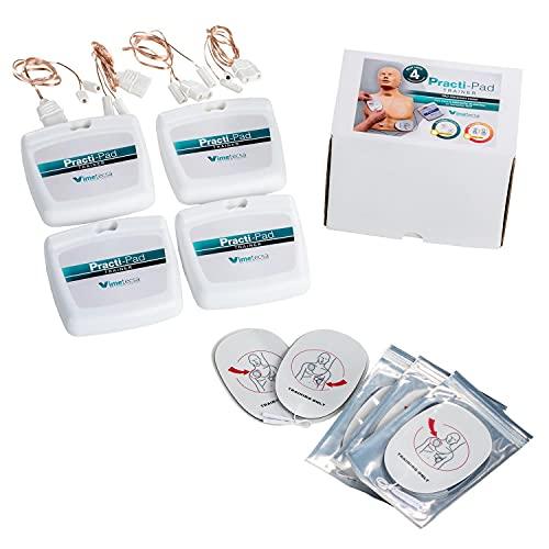 Pulox Erste Hilfe Practi-Pad Trainer Defibrillator Training Adult 4 Stück