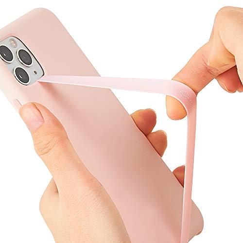 Sinjimoru - Sinji Loop - Banda elástica de Silicona para Sujetar el móvil, Agarre elástico para iPhone, Segura y Delgada, Soporte para teléfono móvil - Rosa