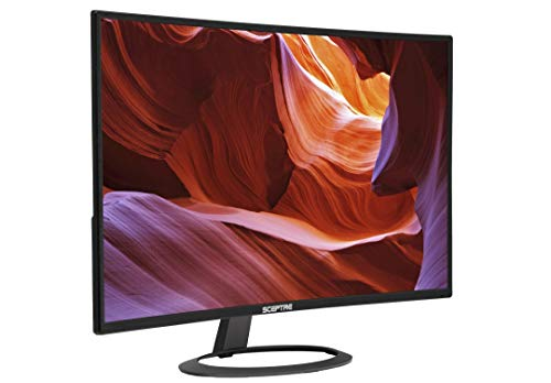 Sceptre C325W-1920R 32' Curved LED Monitor 1080P HDMI DisplayPort Ultra Thin Build-in Speakers,...