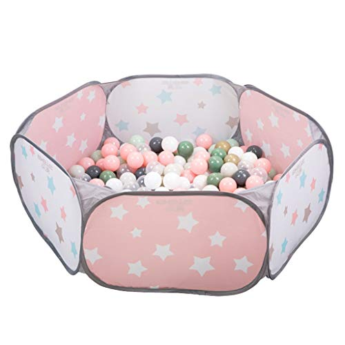 C-J-Xin Pink Baby's Ball Pit, Environmentally Friendly Pop Up Ball Pool - Pastel Colors - Indoor & Outdoor Play Ball Pool Play Tents (Color : Pink, Size : 120 * 38CM)