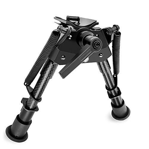 6-9 Inch Carbon Fiber Swivel Benchrest Shooting Bipod Tactical Hunting Sniper Rifle Bi-pod