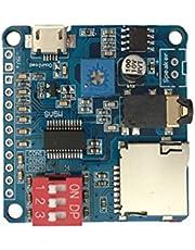 Kcnsieou Mini DY-SV5W Reproductor de MP3 Módulo de disparador/puerto serie de control de audio y voz de la tabla de reproducción