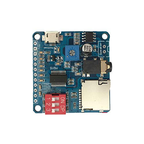 watersouprty Mini DY-SV5W MP3 Player Module Trigger/Serial Port Control Audio Voice Playing Board