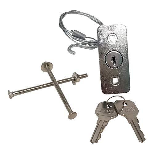 RI-KEY SECURITY - Universal Garage Door Opener Emergency Disconnect Release Key Lock Cable