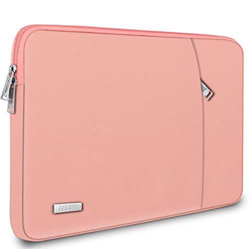 TECOOL Laptop Tasche Hülle für 12,3 Zoll Surface Pro 7/6/5/4, 2018 2019 2020 MacBook Air/Pro 13, 12,9 iPad Pro, HP Envy 13 Notebooktasche Schutzhülle Case Sleeve, Rosa