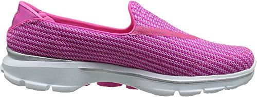 Skechers GO Walk 3, Damen Low-Top Sneaker, Rosa (HPK), 39 EU