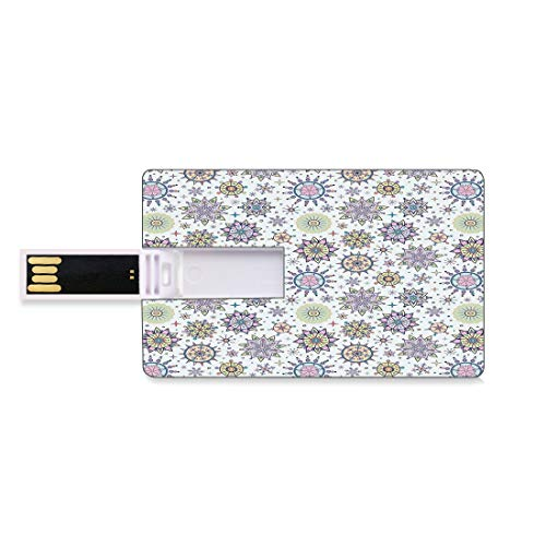 32GB Unidades Flash USB Flash Invierno Forma de Tarjeta de crédito bancaria Clave Comercial U Disco de Almacenamiento Memory Stick Color Pastel Detallado Floral Figuras Artístico Lindo Dulce Nieve Ve