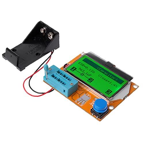 NiceJoy LCD Digital Probador de transistores de 9v LCR-t4 Esr medidor de capacitancia 12864 retroiluminación
