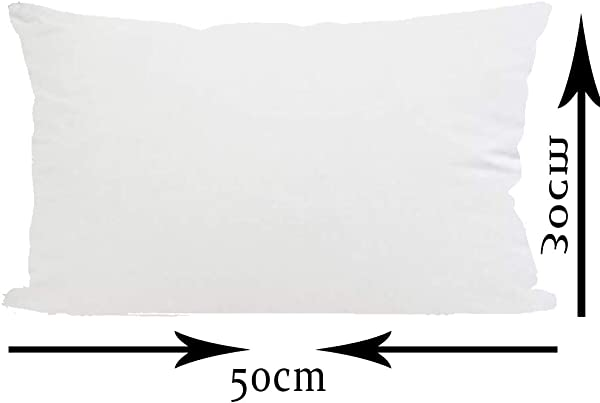 ITFRO Decorative Throw Pillow Insert Filler Stuffing Stuffer For Sofa Chair Bedroom Rectangle 12x20 Inches