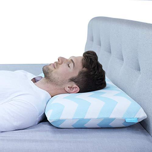 RECCI Kopfkissen, Memory Foam Schlafkissen, Nackenstützkissen gegen Nackenschmerzen, Atmungsaktiv Kissen, Allergien geeignet