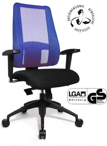 TOPSTAR Bürostuhl Lady Sitness Deluxe, schwarz/blau