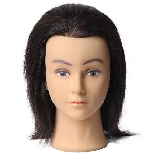 CUSHION Echte menschliches Haar Kosmetologie Friseur-Mannequin Manikin Puppe 100% Professional Beauty Salon Leiter Training weich und glatt Kann Split frei