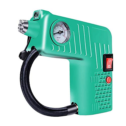 SSXPNJALQ Compresor de Aire portátil Electric Auto Car Bike Bike Bomba de inflador de neumáticos 12V 8A 100W Auto Neumático Pumbilla Inflador de Alta presión Compres (Color : Green)