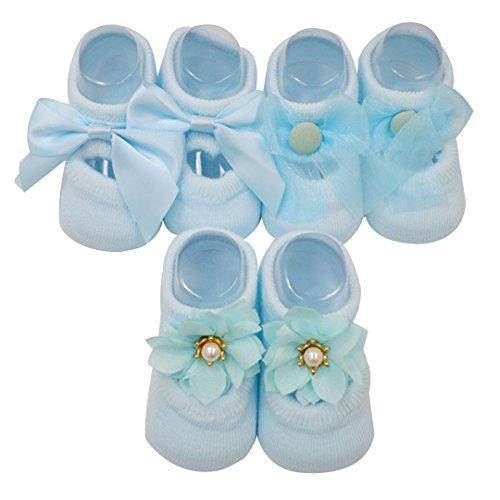 Millya - Chaussette - Bébé (fille) 0 à 24 mois bleu bleu S