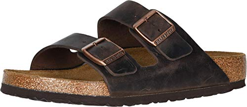 Birkenstock Arizona - Oiled Leather (Unisex) Habana Oiled Leather 41 (US Men's 8-8.5, US Women's 10-10.5) Regular