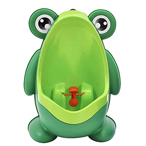 Frog Pee Training,Frog Shape Potty Training Urinal for Toddler Boys,Toilet Pee Trainer with Funny Aiming Target