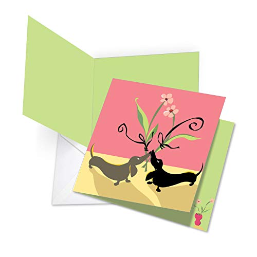 The Best Card Company, Jumbo Valentine's Day Card (8.5 x 11 Inch) - Vday Greeting Card for Valentines - Dachshund Love JQ5159VDG