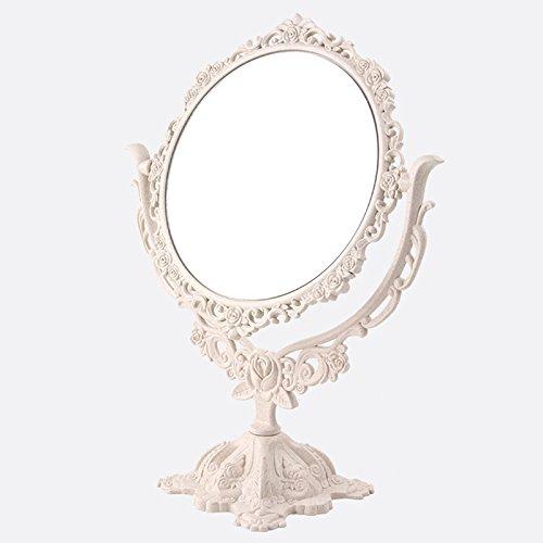 Zreal - Espejo de maquillaje de escritorio giratorio, estilo gótico, espejo de...