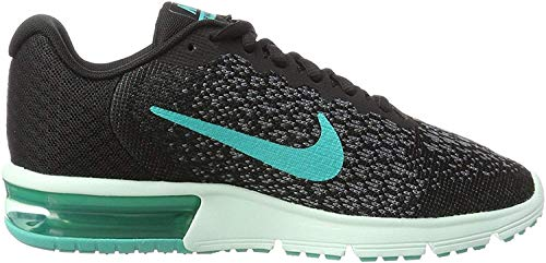 NIKE Women's Air Max Sequent 2 Running Shoe Black Size 7.5 M US