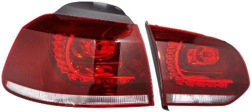 FK Automotive FKRLXLVW12005 LED Feux arrière, Rouge/Clair