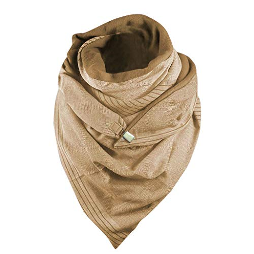 Womens Winter Scarves, Versatile Casual Scarves Thick Print Chunky Warm Scarf Button Wrap Cozy Soft Shawls