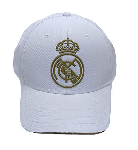 Real Madrid FC RM3GO19 Verstellbare Kappe Real Madrid weiß/Gold -2019-2020, Erwachsene, Unisex, Weiß/Gold