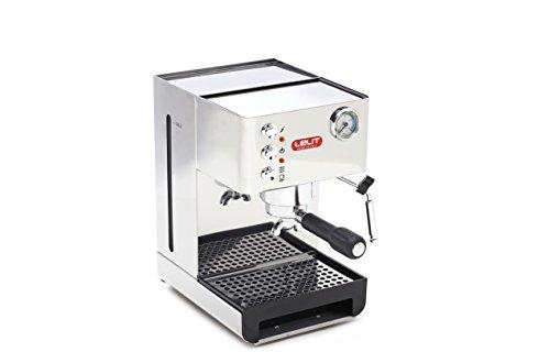 Lelit PL41EM Anna, Máquina de Espresso Semiprofesional – Ideal Para el Expreso, el Capuchino y las Cápsulas de Papel, 1000 W, 2.7 litros, Stainless Steel, Metallo