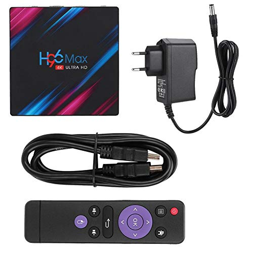 FOTABPYTI TV Box HDMI, Smart TV Box, WiFi + Bluetooth H96 MAX RK3318 de Doble frecuencia para(European Standard 110-240V)