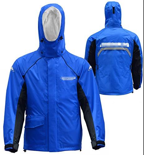 SUIWO Regenkleding regenpak Lichtgewicht Waterdichte Ruiter regenjas Waterproof Split Regenjas Suit Sport Outdoor Klimmen regenjas regenbroek Suit (Color : Blue, Size : S)