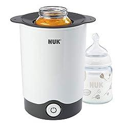 NUK Thermo Express flaskvärmare, särskilt snabb och skonsam uppvärmning på bara 90 sekunder, för glas och flaskor