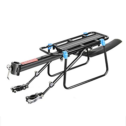 Monifuon Portaequipajes traseros ajustables casi universales para bicicleta, accesorios de bicicleta, soporte de pie para soporte de bicicleta, con reflector