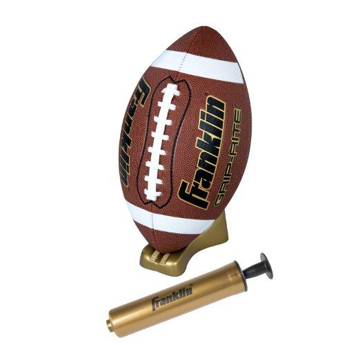 Franklin Sports Grip-Rite - Juego de balón y Camiseta de fútbol, Color marrón, tamaño Infantil