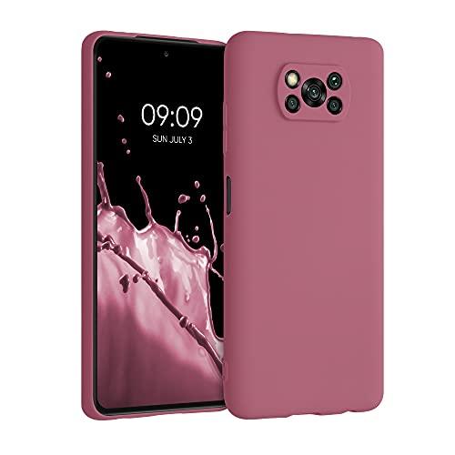 kwmobile Carcasa para Xiaomi Poco X3 NFC/Poco X3 Pro - Funda para móvil en TPU Silicona - Protector Trasero en Rosa Antiguo