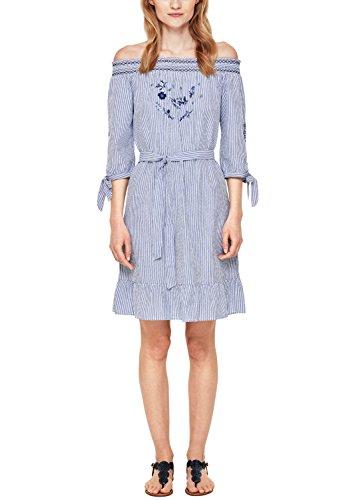 s.Oliver Damen 14.804.82.7994 Kleid, Blau (Pazific Blue Struc. Strip 54H8), 42