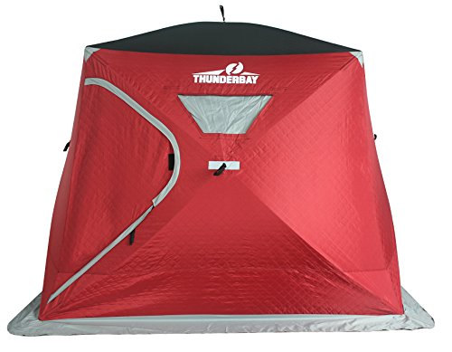 THUNDERBAY 3 Person Wide House for Ice Fishing (4 Person Insulated)